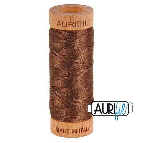 1 Aurifil Minispule 80wt in 88 Farben, hervorragend zum klöppeln, sticken, nähen, quilten, Patchwork geeignet.