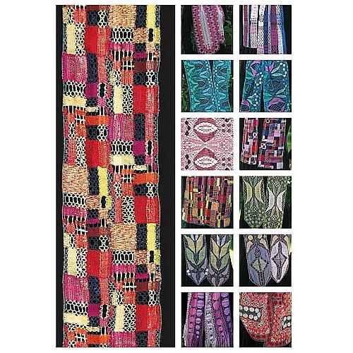 Spitze in Farbe ~ Christine Mirecki - in der Klöppelwerkstatt, 12 Seiden-Schals, vorw. Torchon-Technik, Klöppelbriefe, Arbeitsanleitung, klöppeln, Rückseite