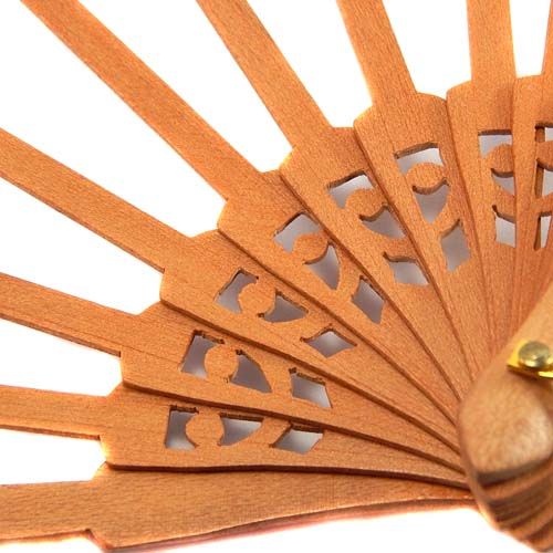 Fächergestell in Peral, Detail zum Artikel: Fächer Modell Bilbao und Brief Torchon PR-3