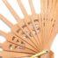 Fächergestell Modell Birne 2019 - Klöppelwerkstatt, spanischer Fächer in der Holzart: Birne, passt zum Klöppelbrief Torchon-Fächer DKV Kongreßmappe 2019, klöppeln, Abanico, Detailaufnahme