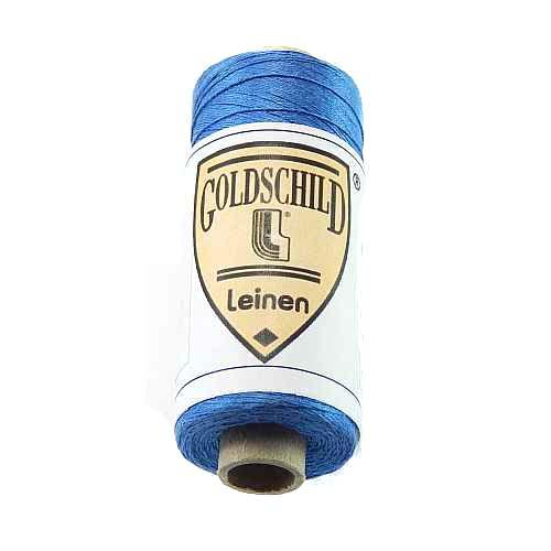 Goldschild farbiges Leinengarn, Handarbeitsgarn aus 100 % Leinen, Flach, gesponnen. Zum Klöppeln, Häkeln, Sticken, Weben, Modellbau und Buchbinden bestens geeignet, in der Klöppelwerkstatt erhältlich. Farb-Nr.: 37