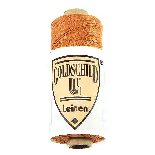 Goldschild farbiges Leinengarn, Handarbeitsgarn aus 100 % Leinen, Flach, gesponnen. Zum Klöppeln, Häkeln, Sticken, Weben, Modellbau und Buchbinden bestens geeignet, in der Klöppelwerkstatt erhältlich. Farb-Nr.:58