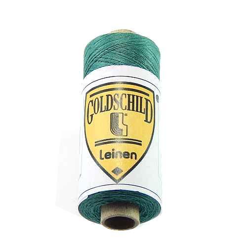 Goldschild farbiges Leinengarn, Handarbeitsgarn aus 100 % Leinen, Flach, gesponnen. Zum Klöppeln, Häkeln, Sticken, Weben, Modellbau und Buchbinden bestens geeignet, in der Klöppelwerkstatt erhältlich. Farb-Nr.:09