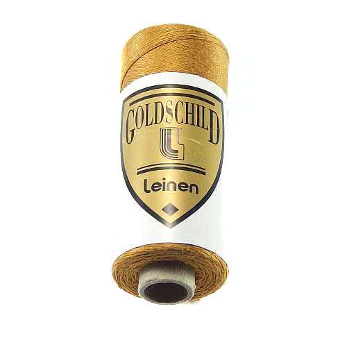 Goldschild farbiges Leinengarn, Handarbeitsgarn aus 100 % Leinen, Flach, gesponnen. Zum Klöppeln, Häkeln, Sticken, Weben, Modellbau und Buchbinden bestens geeignet, in der Klöppelwerkstatt erhältlich. Farb-Nr.: 38