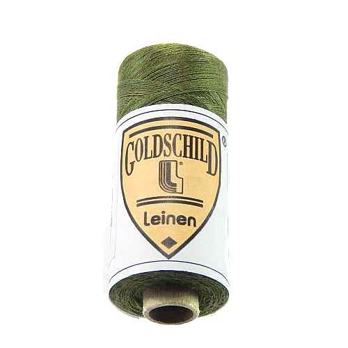 Goldschild farbiges Leinengarn, Handarbeitsgarn aus 100 % Leinen, Flach, gesponnen. Zum Klöppeln, Häkeln, Sticken, Weben, Modellbau und Buchbinden bestens geeignet, in der Klöppelwerkstatt erhältlich. Farb-Nr.: 41