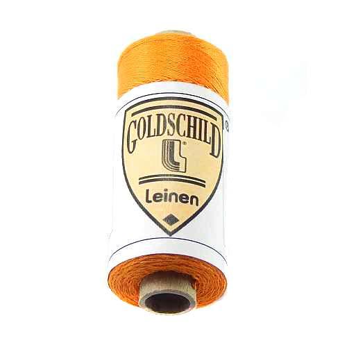 Goldschild farbiges Leinengarn, Handarbeitsgarn aus 100 % Leinen, Flach, gesponnen. Zum Klöppeln, Häkeln, Sticken, Weben, Modellbau und Buchbinden bestens geeignet, in der Klöppelwerkstatt erhältlich. Farb-Nr.: 56