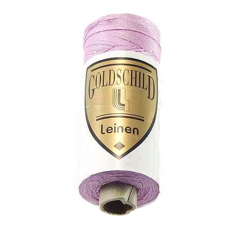 Goldschild farbiges Leinengarn, Handarbeitsgarn aus 100 % Leinen, Flach, gesponnen. Zum Klöppeln, Häkeln, Sticken, Weben, Modellbau und Buchbinden bestens geeignet, in der Klöppelwerkstatt erhältlich. Farb-Nr.: 40