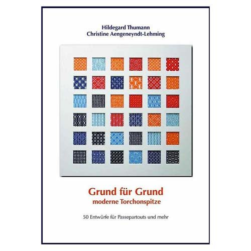 Grund für Grund - moderne Torchongründe, 50 Gründe in einen Passepartoutrahmen dekoriert. - in der Klöppelwerkstatt erhältlich