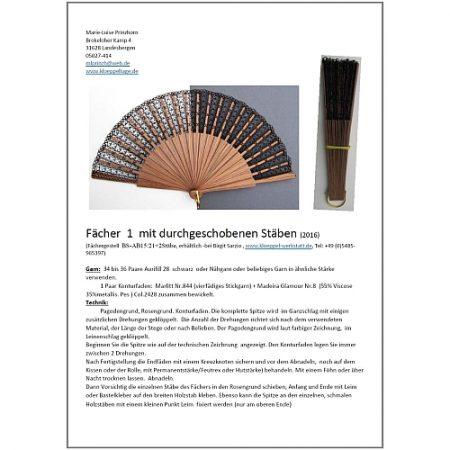 Fächer BS-AB15 und Brief Torchon PR-1 - Klöppelbrief