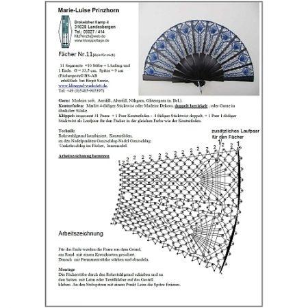 Fächer BS-AB und Brief Torchon PR-11 - Klöppelbrief