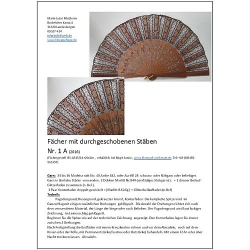 Fächer BS-AB15 und Brief Torchon PR-1A - Klöppelbrief