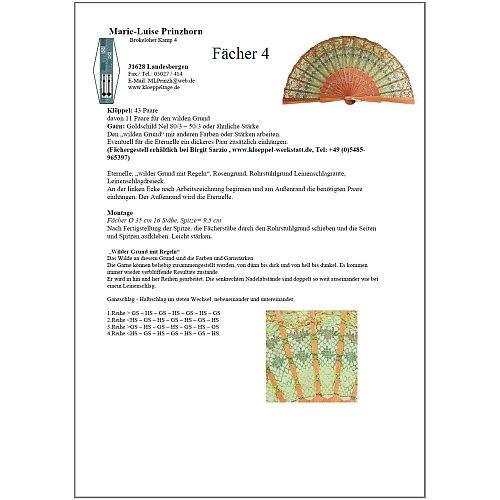 Fächer BS-AB30 und Brief Torchon PR-4 - Klöppelbrief