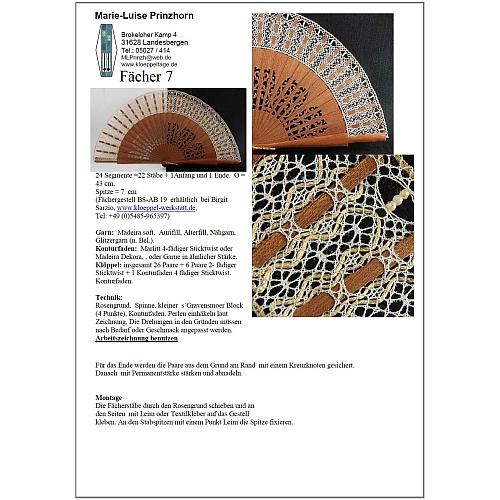 Fächer Modell Ronda und Brief Torchon PR-7 - Klöppelbrief