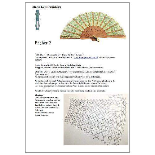 Klöppelbrief zum Modell Cuenza & Brief Torchon PR-2
