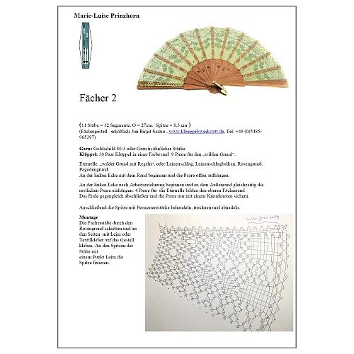 Fächer Modell Cuenza Brief Torchon Pr 2 In Der Klöppelwerkstatt