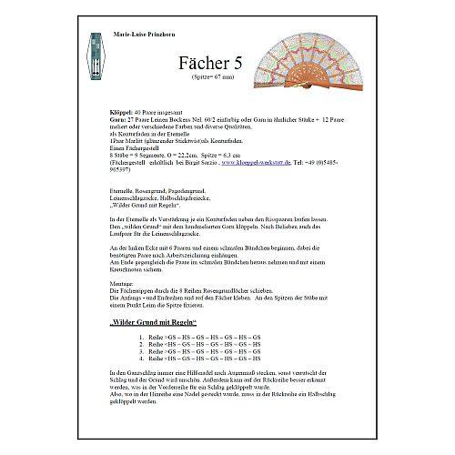 Fächer Modell Salmanca Klöppelbrief Torchonfächer 5