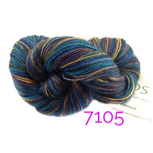 1 Knäuel Manos del Uruguay Lace-Garn multicolor, Farb-nr. 7105