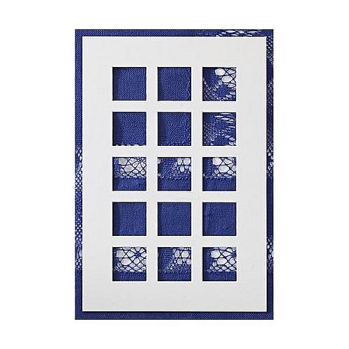 Passepartout ~ 15 Ausschnitte,in weiß, eine schöne Möglichkeit um Spitze attraktiv zu zeigen, in der Klöppelwerkstatt, Häkeln, Klöppeln, Sticken, Fotos, Bild ohne Spitze
