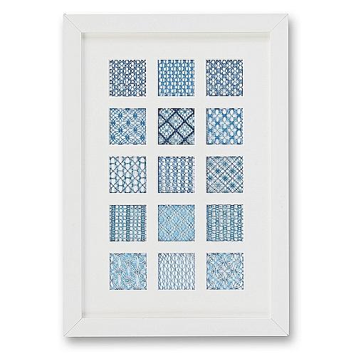 Passepartout ~ 15 Ausschnitte,mit Rahmen, eine schöne Möglichkeit um Spitze attraktiv zu zeigen, in der Klöppelwerkstatt, Häkeln, Klöppeln, Sticken, Fotos, Bild mit Spitze