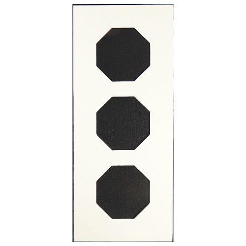 Passepartout 3 Ausschnitte achteckig, weiß, 13 cm x 31 cm, Rückseite offen