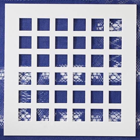 Passepartout ~ 36 Ausschnitte,in weiß, eine schöne Möglichkeit um Spitze attraktiv zu zeigen, in der Klöppelwerkstatt, Häkeln, Klöppeln, Sticken, Fotos, Bild ohne Spitze