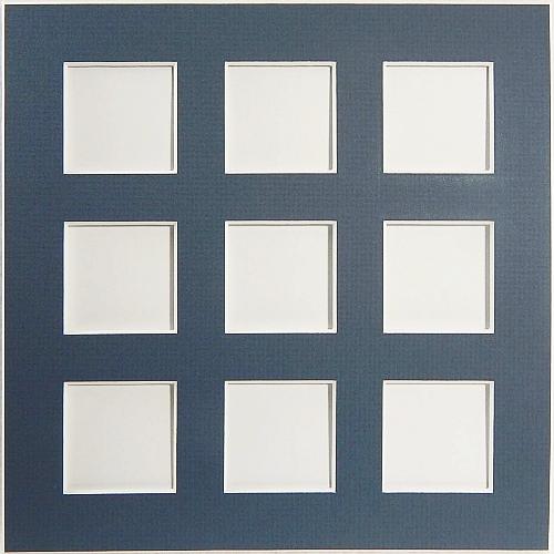 Passepartout 9 Ausschnitte Rückseite geschlossen blau
