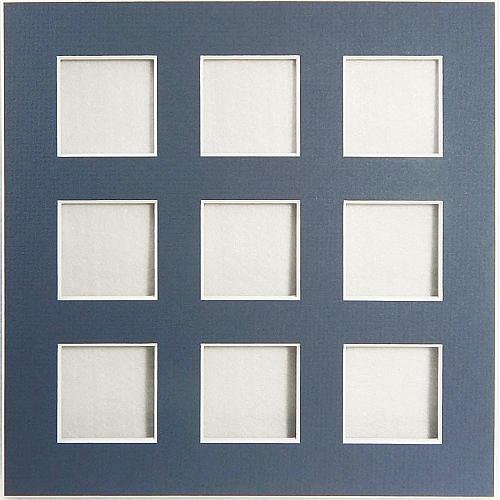 Passepartout 9 Ausschnitte Rückseite offen blau