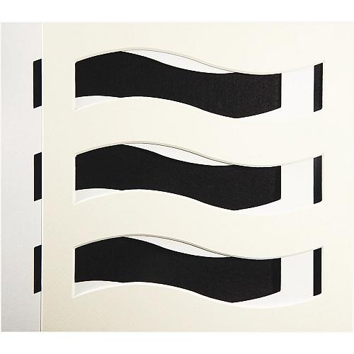 Passepartout Welle weiß, Rückseite offen, doppelt, in der Klöppelwerkstatt erhältlich