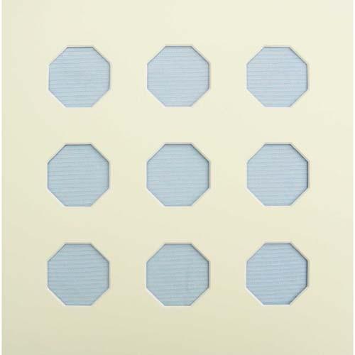 Passepartout 8-eckige Ausschnitte d = 5 cm, in der Klöppelwerkstatt erhältlich.