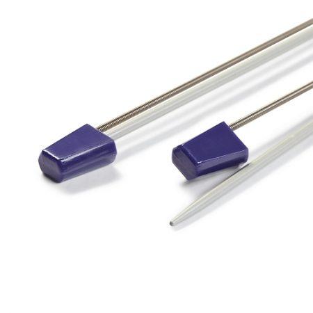 Klöppelhalter aus Metall zum sichern von Klöppel oder Maschen, Detail