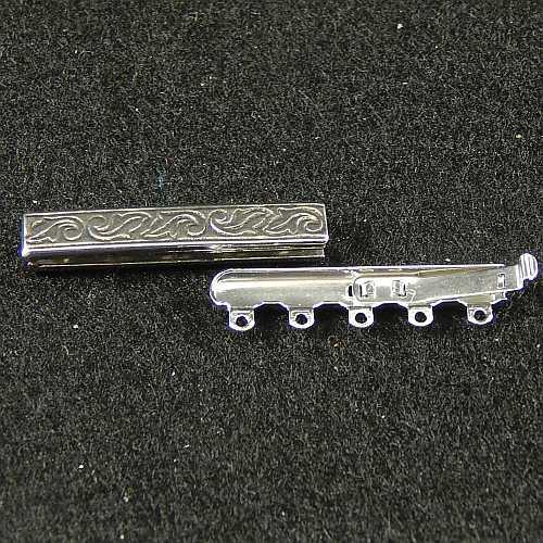 Verschlüsse zum Annähen mit Federverschluss, silberfarbig,5 Ösen schmale Form für Armbänder, geklöppelt, gehäkelt, erhältlich in derKlöppelwerkstatt