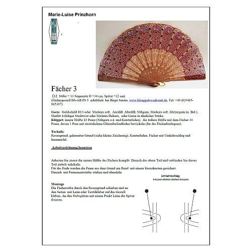 Klöppelbrief zum Artikel Fächer Modell Bilbao & Klöppelbrief Torchonspitze 3