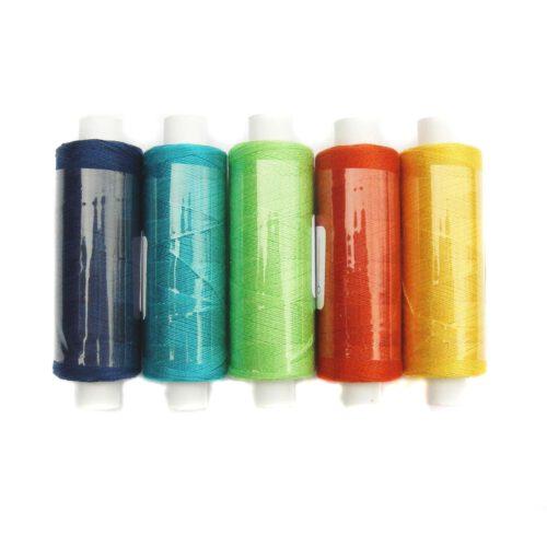 Venne Colcoton Set 5 Farben für 6eckiges Passepartout in blau-grün-gelb-orange