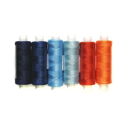 Venne Colcoton Set mit 6 Farben orange blau für ds 36 er Passepartout, zum klöppeln, stricken, weben