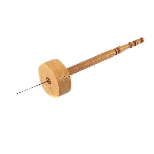 Garnrollenhalter mit Nadel zum Halten der Garnrolle beim Aufwickeln des Garnes - in der Klöppelwerkstatt,klöppeln, stricken, weben, häkeln