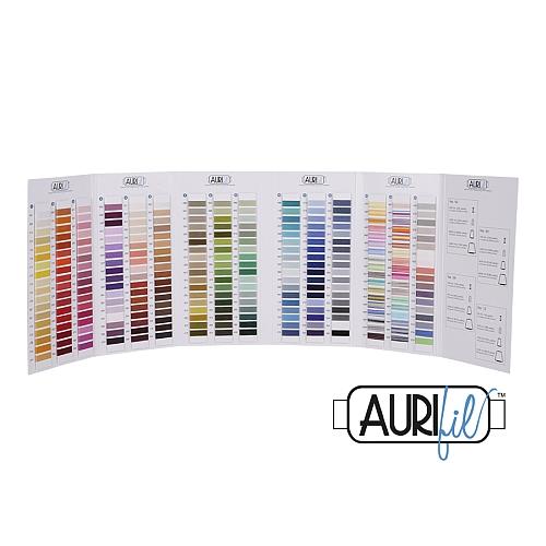 Aurifil - Farbkarte mit 270 Garnproben zu den 5 Stärken, in der Klöppelwerkstatt erhältlich
