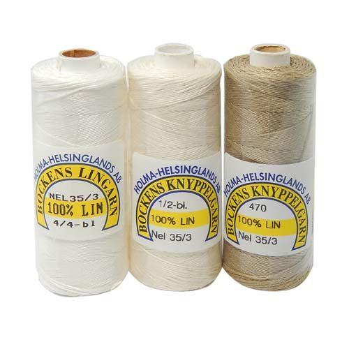 Bockens Leinengarn Nel 35/3, in der Klöppelwerkstatt erhältlich, zum klöppeln, stricken, häkeln, für die Buchbinderei, Modellbau, Sticken, weben und für den Ebenseer Kreuzstich, sehr gut geeignet.