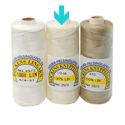 Bockens Leinengarn Nel 35/3 halbgebleicht, in der Klöppelwerkstatt erhältlich, zum klöppeln, stricken, häkeln, für die Buchbinderei, Modellbau, Sticken, weben und für den Ebenseer Kreuzstich, sehr gut geeignet.
