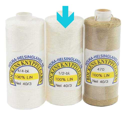 Bockens Leinengarn Nel 40/3 halbgebleicht, in der Klöppelwerkstatt erhältlich, zum klöppeln, stricken, häkeln, für die Buchbinderei, Modellbau, Sticken, weben und für den Ebenseer Kreuzstich, sehr gut geeignet.
