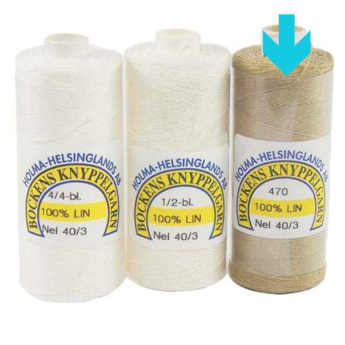 Bockens Leinengarn Nel 40/3 natur, in der Klöppelwerkstatt erhältlich, zum klöppeln, stricken, häkeln, für die Buchbinderei, Modellbau, Sticken, weben und für den Ebenseer Kreuzstich, sehr gut geeignet.