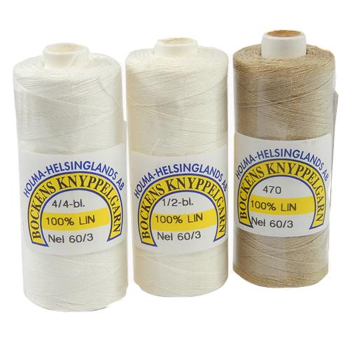 Bockens Leinengarn Nel 60/3, in der Klöppelwerkstatt erhältlich, zum klöppeln, stricken, häkeln, für die Buchbinderei, Modellbau, Sticken, weben und für den Ebenseer Kreuzstich, sehr gut geeignet.