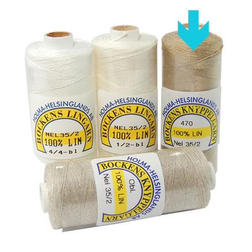 Bockens Leinengarn Nel 35/2 natur, in der Klöppelwerkstatt erhältlich, zum klöppeln, stricken, häkeln, für die Buchbinderei, Modellbau, Sticken, weben und für den Ebenseer Kreuzstich, sehr gut geeignet.