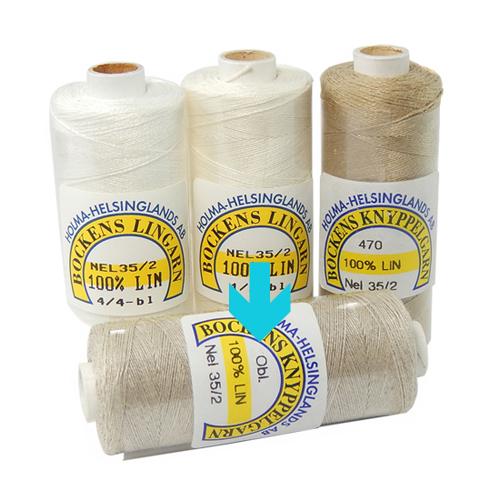 Bockens Leinengarn Nel 35/2 obl., in der Klöppelwerkstatt erhältlich, zum klöppeln, stricken, häkeln, für die Buchbinderei, Modellbau, Sticken, weben und für den Ebenseer Kreuzstich, sehr gut geeignet.
