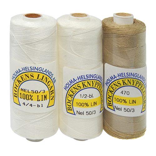 Bockens Leinengarn Nel 50/3, in der Klöppelwerkstatt erhältlich, zum klöppeln, stricken, häkeln, für die Buchbinderei, Modellbau, Sticken, weben und für den Ebenseer Kreuzstich, sehr gut geeignet.