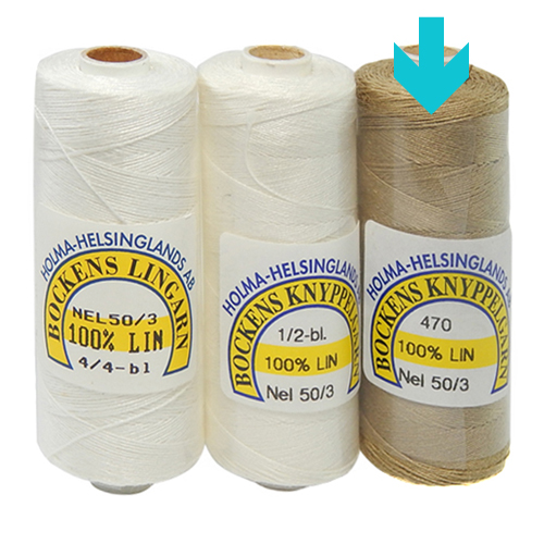 Bockens Leinengarn Nel 50/3 natur, in der Klöppelwerkstatt erhältlich, zum klöppeln, stricken, häkeln, für die Buchbinderei, Modellbau, Sticken, weben und für den Ebenseer Kreuzstich, sehr gut geeignet.