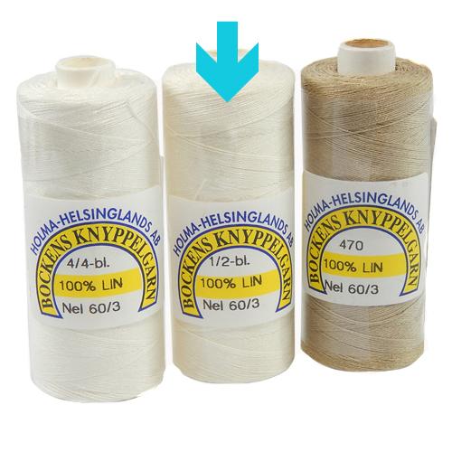Bockens Leinengarn Nel 60/3, halbgebleicht, in der Klöppelwerkstatt erhältlich, zum klöppeln, stricken, häkeln, für die Buchbinderei, Modellbau, Sticken, weben und für den Ebenseer Kreuzstich, sehr gut geeignet.