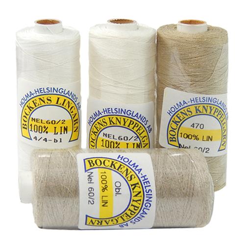Bockens Leinengarn Nel 60/2, 4 Farben, in der Klöppelwerkstatt erhältlich, zum klöppeln, stricken, häkeln, für die Buchbinderei, Modellbau, Sticken, weben und für den Ebenseer Kreuzstich, sehr gut geeignet.