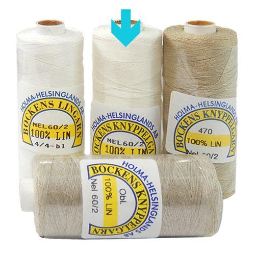 Bockens Leinengarn Nel 60/2, in halbgebleicht, in der Klöppelwerkstatt erhältlich, zum klöppeln, stricken, häkeln, für die Buchbinderei, Modellbau, Sticken, weben und für den Ebenseer Kreuzstich, sehr gut geeignet.