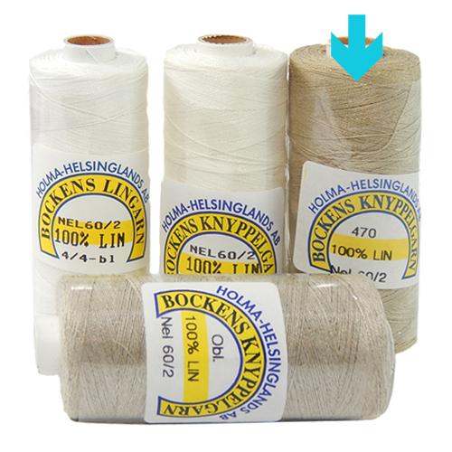Bockens Leinengarn Nel 60/2, in natur, in der Klöppelwerkstatt erhältlich, zum klöppeln, stricken, häkeln, für die Buchbinderei, Modellbau, Sticken, weben und für den Ebenseer Kreuzstich, sehr gut geeignet.