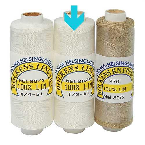 Bockens Leinengarn Nel 80/2 halbgebleicht, in der Klöppelwerkstatt erhältlich, zum klöppeln, stricken, häkeln, für die Buchbinderei, Modellbau, Sticken, weben und für den Ebenseer Kreuzstich, sehr gut geeignet.